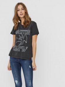 Černé tričko s potiskem Noisy May Led Zeppelin