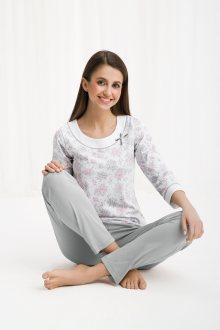 Dámské pyžamo 455 BIG růžová 4XL