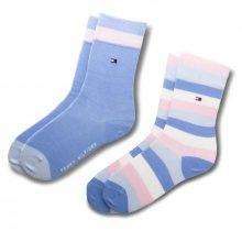 Sada 2 párů vysokých ponožek unisex TOMMY HILFIGER