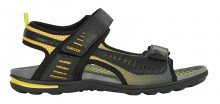 GEOX Pánské sandále U Tevere Black/Yellow U029CC-0BC14-C0054 41