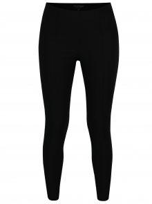 Černé zkrácené kalhoty s vysokým pasem Miss Selfridge