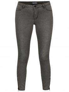 Šedé džíny se zipem na nohavicích Jacqueline de Yong Skinny