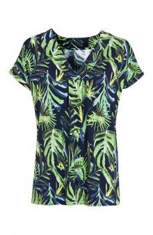 Úpletové tričko se vzorem / modrá/se vzorem
