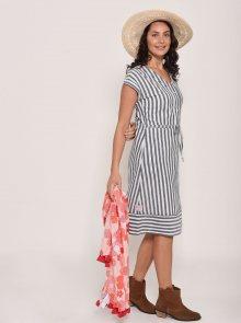 Bílo-modré pruhované šaty Brakeburn