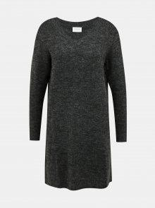 Tmavě šedé svetrové šaty VILA