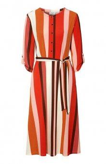 Pruhované šaty Siga / rezavá/se vzorem
