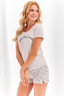 Krátké dámské pyžamo 2361 NIKA S-XL béžová XL