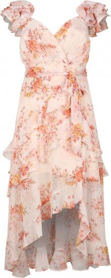 Forever New Šaty \'Ruffle Maxi Dress\' krémová