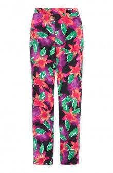 Široké vzorované kalhoty / se vzorem