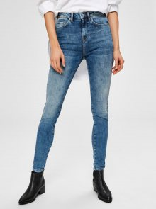 Modré skinny fit džíny Selected Femme