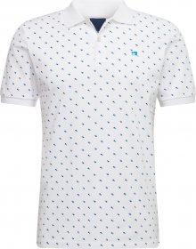 SCOTCH & SODA Tričko bílá / tmavě modrá / modrá