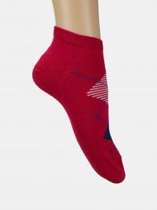 Sada dvou párů kotníkových ponožek v bílé a růžové barvě Marie Claire