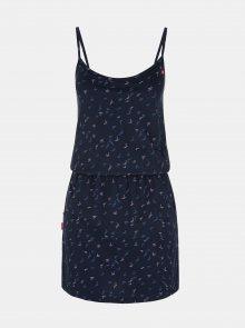 Tmavě modré dámské vzorované šaty LOAP Barila