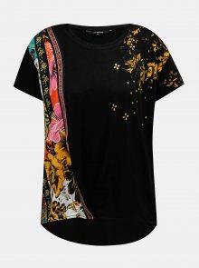 Černé vzorované tričko Desigual