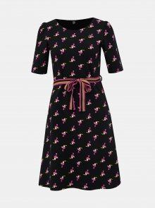 Černé vzorované šaty Blutsgeschwister Toucan