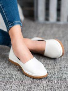 Designové bílé  tenisky dámské bez podpatku 37