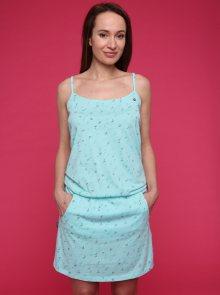 Tyrkysové dámské vzorované šaty LOAP Barila