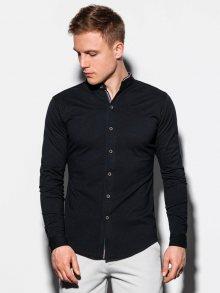 Ombre Clothing Zajímavá černá košile K542