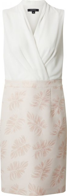 COMMA Pouzdrové šaty růžová / bílá