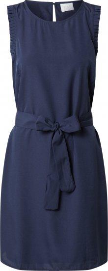 VILA Šaty \'VIALINNIA S/L DRESS/SU\' námořnická modř