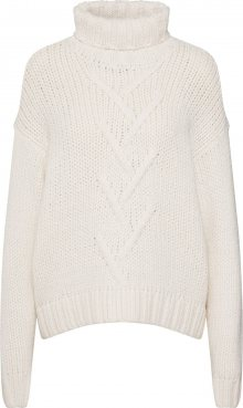 Noisy may Svetr \'NMKIRA L/S HIGH NECK KNIT\' bílá