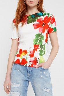 Desigual barevné tričko TS Summer Garden - XS