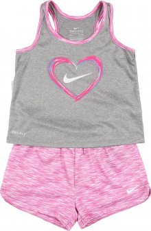 Nike Sportswear Sada \'DF HEART TANK & SPACE-DYE SHORT SET\' pink