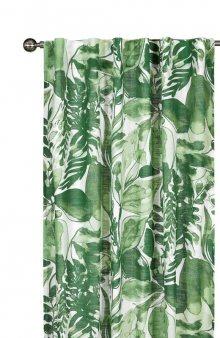 Závěsy Green Garden se vzorem 2 Pack / zelená