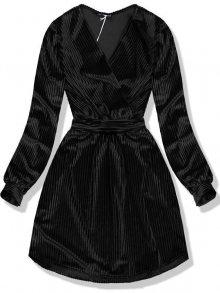 Černé sametové krátké šaty