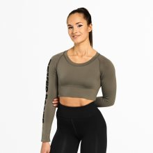 Better Bodies Crop-top Bowery Washed Green M