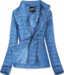 Světle modrá bunda s pružnými vsadkami (19801) modrá S (36)