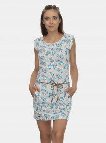 Modro-šedé vzorované šaty Ragwear Tag Leaves - XS
