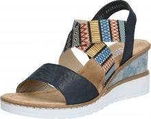 RIEKER Sandály mix barev / černá