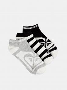 Sada tří párů ponožek v šedé a černé barvě Roxy