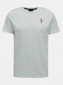 Světle šedé pruhované tričko Selected Homme Wayne