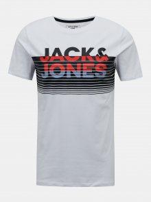 Bílé tričko Jack & Jones Brix