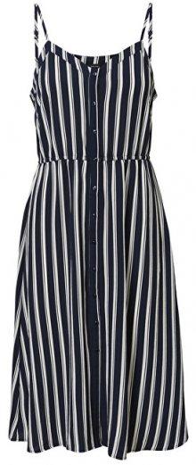 Vero Moda Dámské šaty VMSASHA 10215358 Navy Blazer Snow White Coco XS