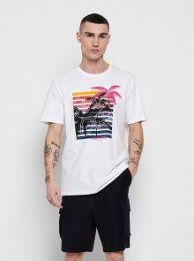 Bílé tričko ONLY & SONS Kuba