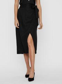 Černá zavinovací midi sukně AWARE by VERO MODA Katelin