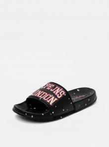 Černé dámské pantofle Pepe Jeans