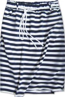 Tepláková sukně s kapsami modro-bílá (592ART) bílá ONE SIZE
