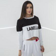 Labella Crop-top Mikina Black/White M