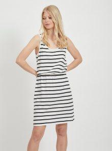 Černo-bílé pruhované basic šaty VILA Calina