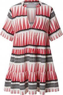 ONLY Košilové šaty \'ONLLUCCA ATHENA S/S DRESS\' bílá / červená / černá