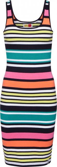 Superdry Letní šaty \'MIAMI\' žlutá / bílá / námořnická modř / oranžová