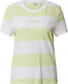 WRANGLER Tričko žlutá / bílá