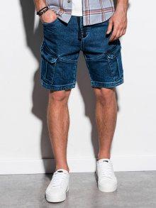 Ombre Clothing Originální džínové kraťasy v tmavě modré barvě W220