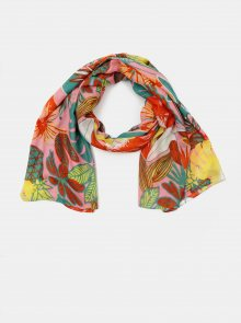 Zeleno-růžový květovaný šátek Pieces Namara
