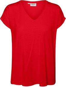 Vero Moda Dámské triko VMAVA 10235286 Goji Berry XS