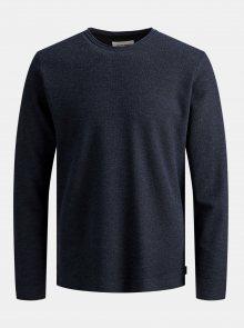 Tmavě modrý basic svetr Jack & Jones Dylan